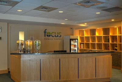 Fitness center check in desk