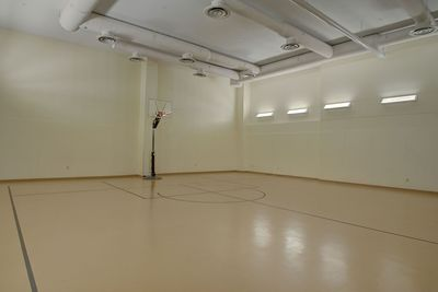 Indoor basketball court