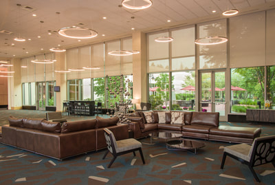 Spacious Lobby Seating Area in Conference Center