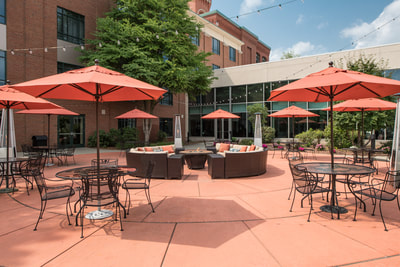 Outdoor Dining & Seating Areas during the day